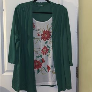 Christmas One Piece Top with Jacket